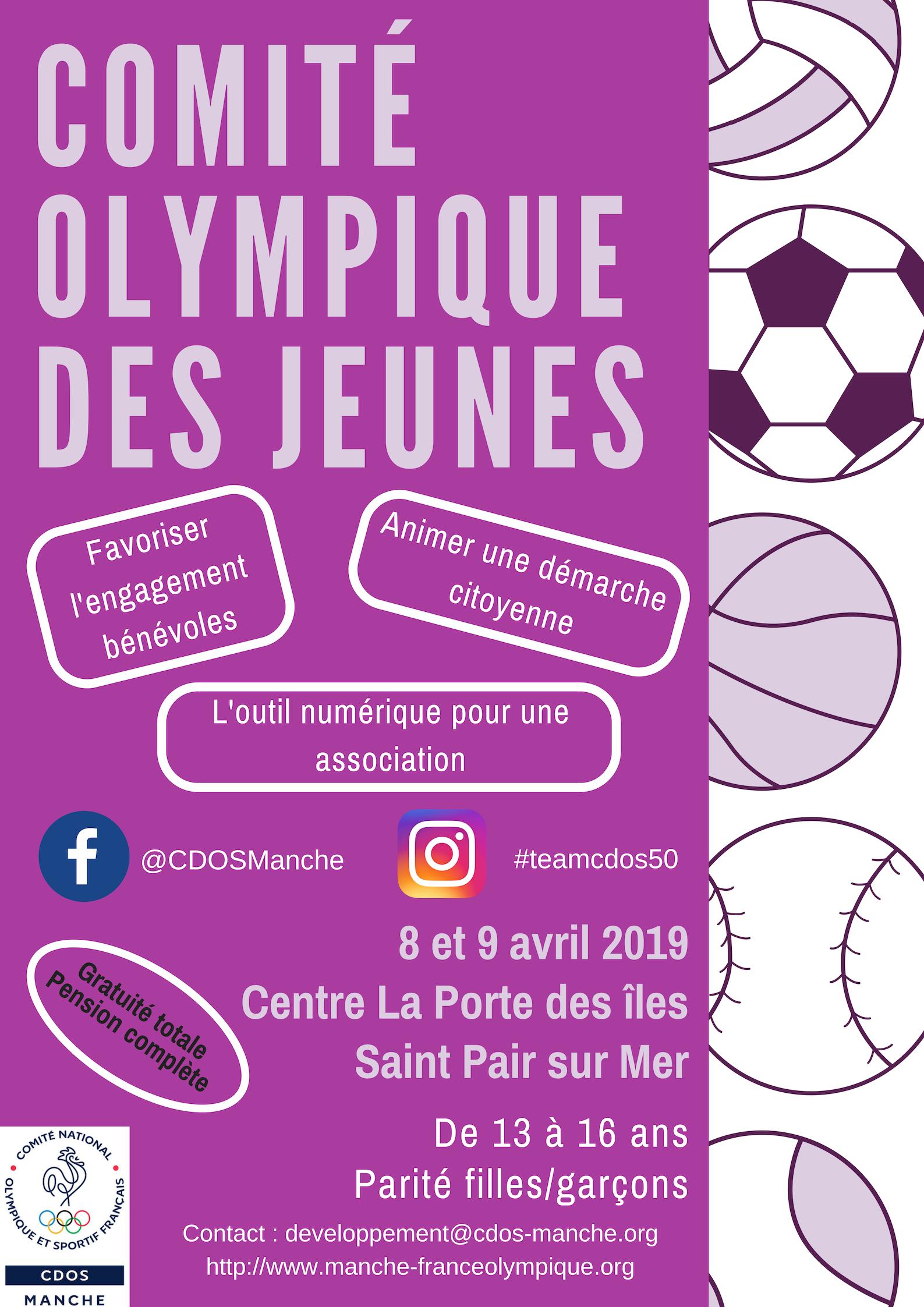 CDOS des jeunes - 8/9 avril 2019