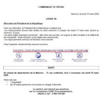 Fermeture du CDOS - Infos COVID 19